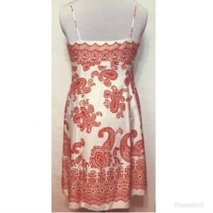 Ann Taylor red paisley summer dress sz6P